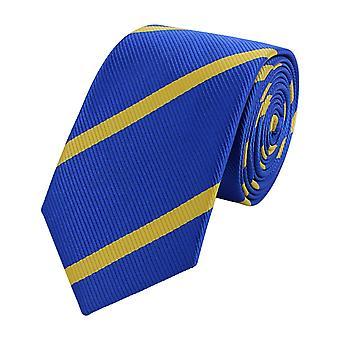Tie tie tie tie narrow 6cm blue/yellow striped Fabio Farini