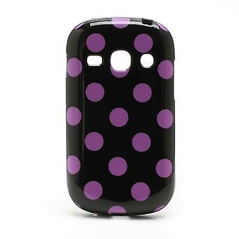 Estojo de protecção para móvel fama Samsung Galaxy S6810 preto / rosa