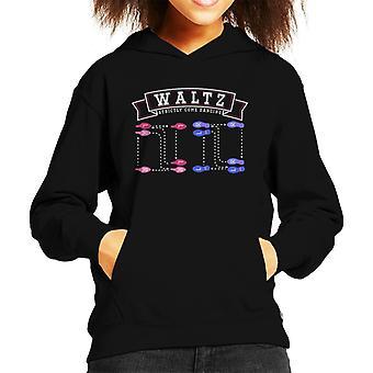 Waltz Dance Steps Strictly Come Dancing Kid's Hooded Sweatshirt