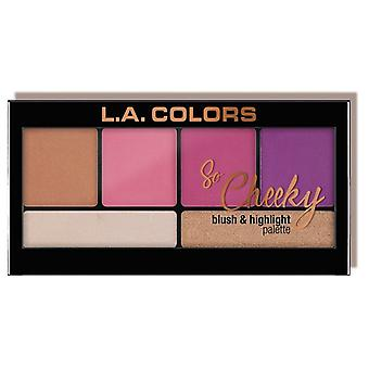 L.A. Colors So Cheeky palette blusher and highlighter Sweet and Sassy (Make-up , Palets)