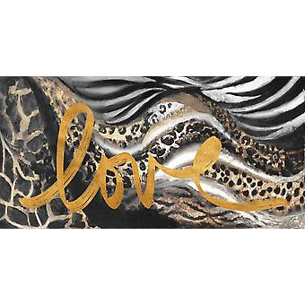 African Touch Love Poster Print by Patricia Pinto