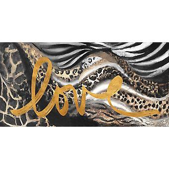 Afrikanischen Touch Liebe Poster Print von Patricia Pinto