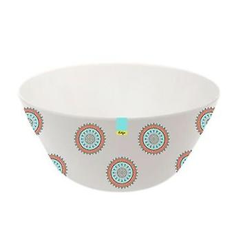 Red Patterned Melamine Abstract Summer - Bowl 6inch Camping Kitchen