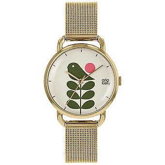 Orla Kiely | Ladies Avery Stem | Gull Mesh stroppen | OK4080 Watch