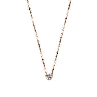 ESPRIT women's chain necklace Silver Gold cubic zirconia Petite ESNL92942B420