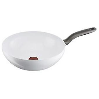 Control de cerámica Tefal Wok blanco 28 cm