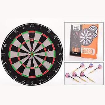 Dartscheibe 45 x 2 cm mit 6 darts