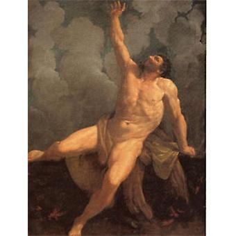 Hercules on the Pyre, Guido Reni, 50x40cm