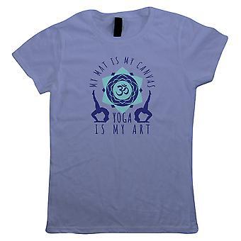 Yoga er min kunst, kvinner T-skjorte
