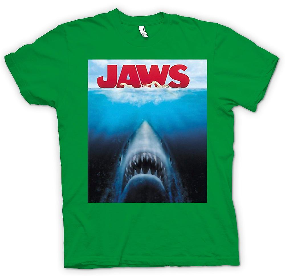 Mens T-shirt - Jaws Great White Shark - Movie