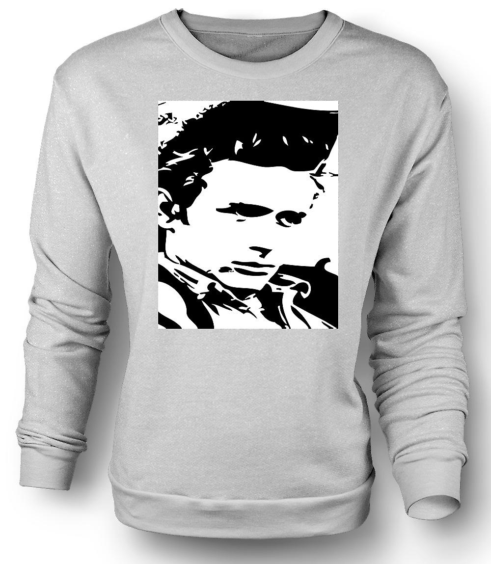 Mens Sweatshirt James Dean portrett - ikon - BW