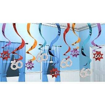 60 Hanging Swirl Decoration Party Continues 15 strings (Quantity 1)