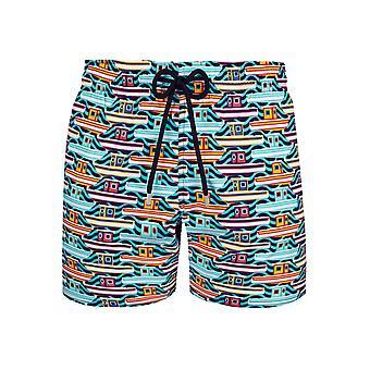 Vilebrequin Vilebrequin tropézienne multicolore bateau nager Shorts