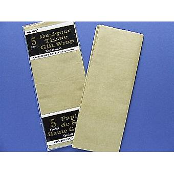 5 Sheets Tissue Paper - Gold | Gift Wrap Supplies
