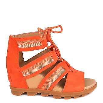 Sorel Joanie Ii Orange Lace Wedge Sandal