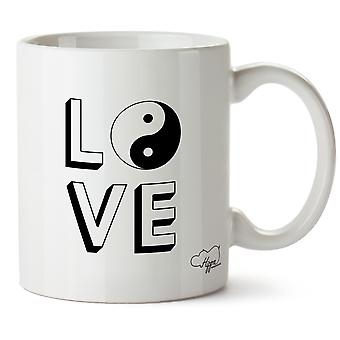 Hippowarehouse amor Yin Yang impresso caneca copo cerâmico 10oz
