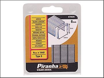 Svart & Decker X70506 smal krona Staples 6 mm Pack 1440