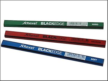Blackedge Carpenters Pencils - Assorted Card of 12