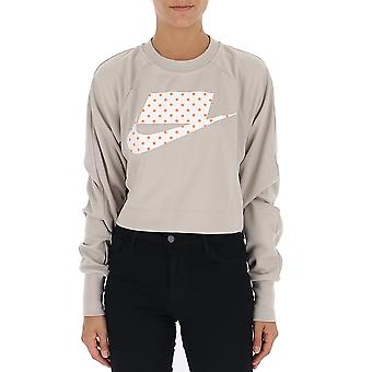 Nike graue Baumwoll Sweatshirt