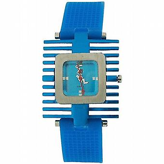 Kool Time Spacetime Quad Analogue Blue Silicone Strap Ladies Fashion Watch KT12