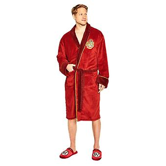 Men's Harry Potter Hogwarts Express 9 3/4 Fleece Dressing Gown  - ONE SIZE