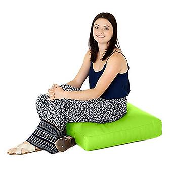 Lime Faux Leather Large Bean Bag Floor Cushion Seat