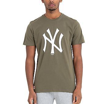 New Era Basic Shirt - MLB New York Yankees oliv