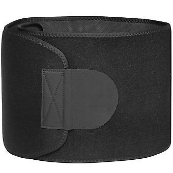 TRIXES Cinturón recortador de cintura de neopreno - calorías grasa quema ejercicio pérdida de peso ayuda y formader corporal ajustable - negro