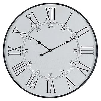 Hill Interiors Large Round Embossed Station Clock