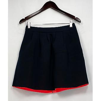 Sugar Lips Skirt Pleated Detailed w/ Back Zipper Closure Blue