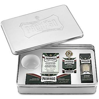 Complete Proraso Refresh Box - Before Shaving/ Aftershave/ Cr me Raser/ Bol Soap/ Blaireau