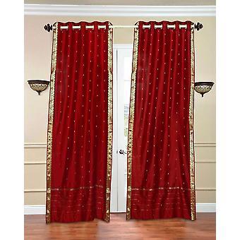Anneau rouge Sari pure haut Rideau / Drape / panneau - pièce