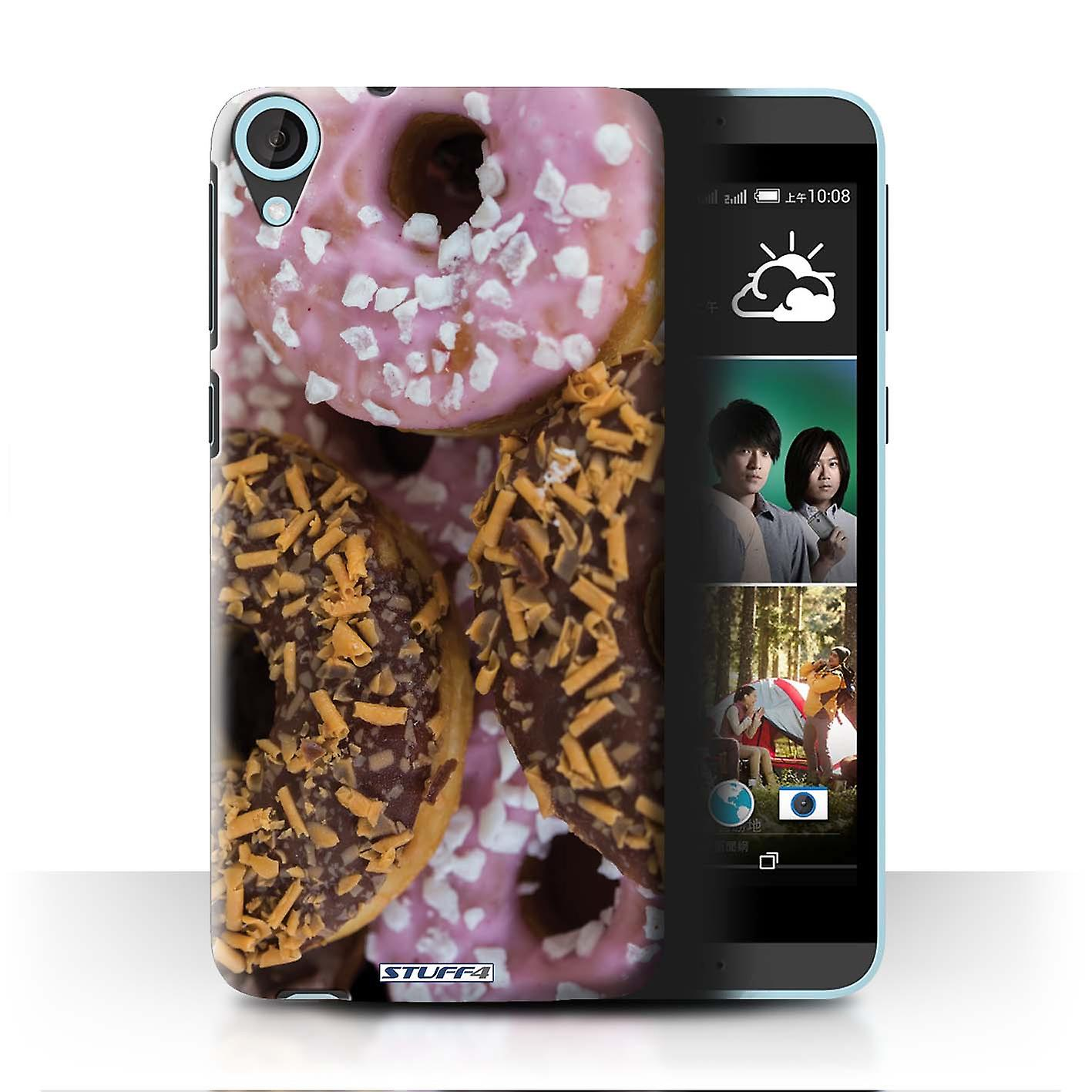 STUFF4 Case/Cover for HTC Desire 820s Dual/Chocolate/Pink/Tasty Donuts
