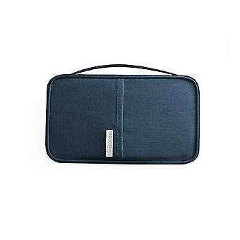 RFID Protection-Blue Universal Travel wallet Passport case