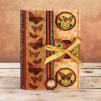 Flight Of The Butterflies Vintage Premium A4 Card Kit-Parchment Trail FOTB106
