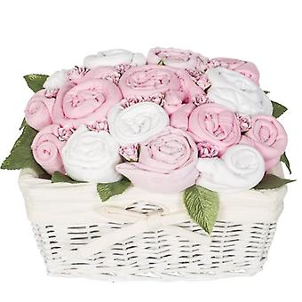 Country Garden Baby Basket - Zucker-Pink