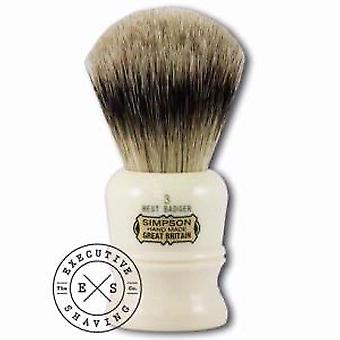 Simpsons Duke 3 Best Badger Hair Shaving Brush In Imitation Ivory