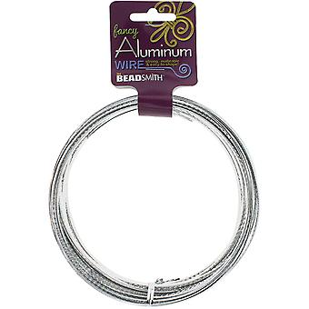 Aluminum Wire Flat Diamond Cut 1X5mm 8 Meters/Pkg (26.25')-Silver ALFC5-SI