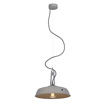 Concrete light pendant Alva grey Ø 36 cm h 9 cm