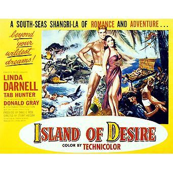 Island Of Desire From Left Tab Hunter Linda Darnell 1952 Poster Art Movie Poster Masterprint