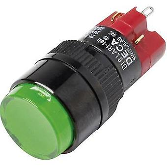 Pushbutton switch 250 Vac 5 A 1 x Off/On DECA D16LAR1-1abGG IP40 latch 1 pc(s)