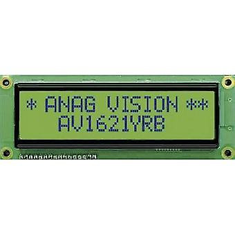 LCD Black Yellow-green (W x H x D) 122 x 44 x 10 mm Anag Vision AV1621YRB-SJ