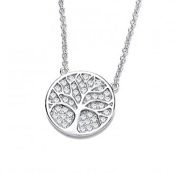 Cavendish French Silver and CZ Tree of Life Necklace