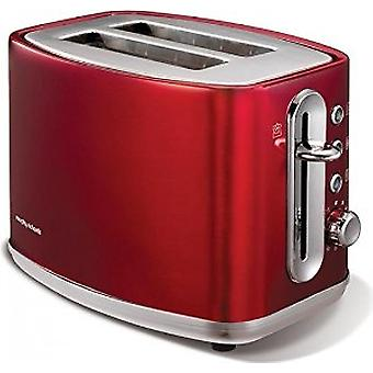 Morphy Richards 220004 Elipta Stahl 2 Slice Toaster rot