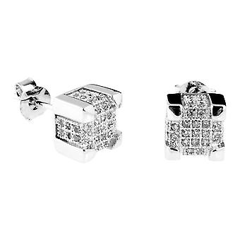 925 Silver MICRO PAVE earrings - IMPERIAL 7 mm
