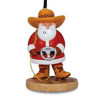 Ride 'Em Rodeo Cowboy Santa Christmas Holiday Ornament