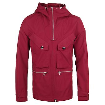 Pretty Green Capella Red Seam Sealed Hooded Jacket