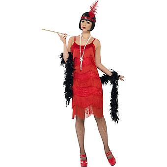 Flappers shimmy costume with perlenbesetztem dress and headband