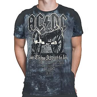 Liquid Blue - AC/DC CANNON TIE DYE - Short Sleeve T-Shirt .