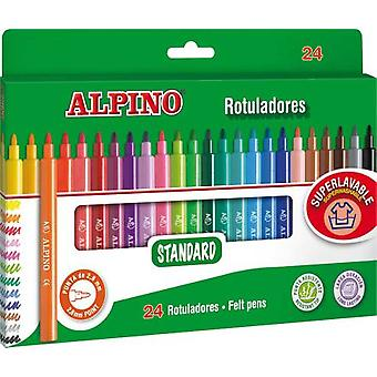 Alpino Caja 24 Rotuladores (Toys , School Zone , Drawing And Color)